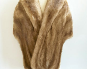 Herrington Fur Co. Mink Stole, Mink Shawl, Genuine fur coat