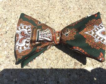 Vintage Ormond Colonel Men's Paisley Bow Tie