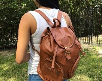 Backpack bag,brown leather ,backpack,back pack