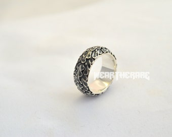 Silver Oak leaf ring