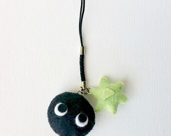 Totoro Inspired Cellphone Strap Dust Plug