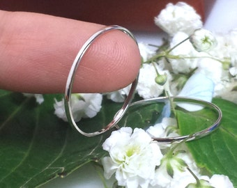 Super Thin Platinum band ring, platinum spacer 950 platinum, slim platinum ring 1mm wedding spacer petite narrow skinny domed tapered top