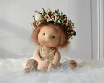 """Belle, waldorf doll 10"""" Made to order by Calinette"""