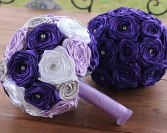 Purple Wedding Bouquet, Purple, Lavender, Silver, & White Bouquet, Lavender Bouquet, Purple Bouquet, Purple and White Bouquet