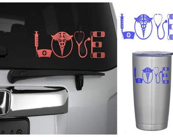 Nurse Decal, Nurse Love, Nurse Sticker, RN Decal, RN Sticker, Medical Student Gift, Yeti Cup Decal, RTIC Decal, Therapist Gift