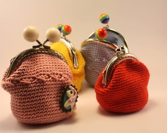 Handmade crocheted little purse