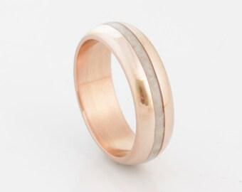 Antler Wedding Band copper wedding ring antler ring mens wedding band woman ring
