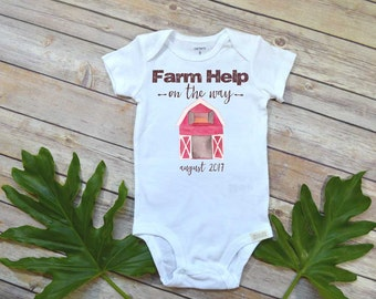 Farm Help on the Way, Pregnancy Announcement, Farm Baby, Pregnancy Reveal shirt,Farm shirt, Country Baby, Expecting Farm shirt, Baby Due