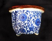 Chinese Vase , Canton blue white pot , Oriental vase , Antique porcelain pot , Chinese pot ,  # 16