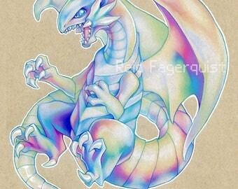 Blue Eyes White Dragon PRINT