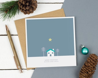 Christmas Card - Scandinavian Christmas Card - Hygge - Nanny and Grandad, Mum and Dad, Granny and Grandpa or Auntie and Uncle - Scandi House