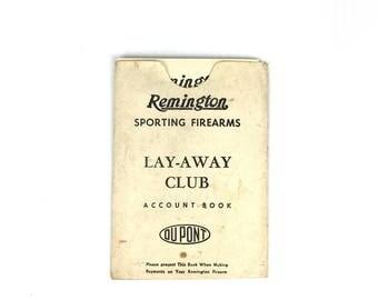 Vintage Remington DuPont Lay Away Paper Booklets 1950s Remington Firearms Paper Account Book Original Remington Ephemera