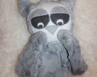 Owl Stuffed Animal, Woodland, Owls, Cuttlemecritter, Owl Baby, lovey, Minky Toy, Owl Plush, Hoot, Grey Owl, Baby Toy, Toddler Toy