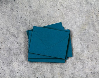 25 Mini Teal Envelopes - 2.6875 x 3.6875 inches - Guest Book Envelopes - Mini Dark Turquiose Envelopes