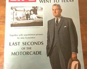 LIFE magazine. LBJ cover about JFK. 1967.