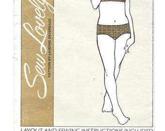 1970s Child's BIKINI SWIMSUIT ~ Vintage 1971 Sewing Pattern ~ Girls Sizes 2-3-4-5-6-6x ~ Sew Lovely SW108 ~ Two-way Stretch Fabric UNCUT