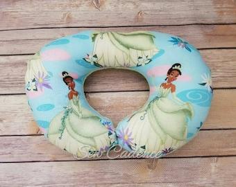 Travel Neck Pillow For Kids, Adults  ~ Princess & the Frog Pillow ~ Tiana Pillow ~ Airplane Pillow ~ Road Trip Pillow ~ PCS Move Pillow