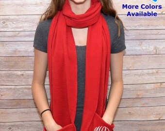 Monogrammed Scarf Personalized Embroidered