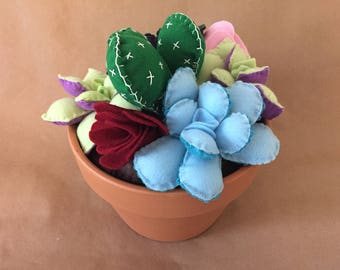 Large Arrangement of Felt Succulents