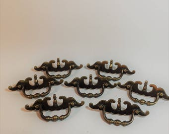 Victorian Style Brass Drawer Pulls Set of 4