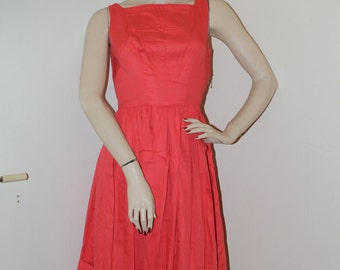 50s Coral Dress