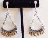 Sterling Silver Clip-On Earrings, 925 Earrings, SilverEarrings,  leaf drop earring, zmw531