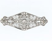 1ct Diamond brooch Gold