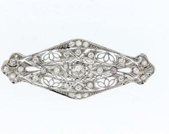 1ct Diamond brooch Gold