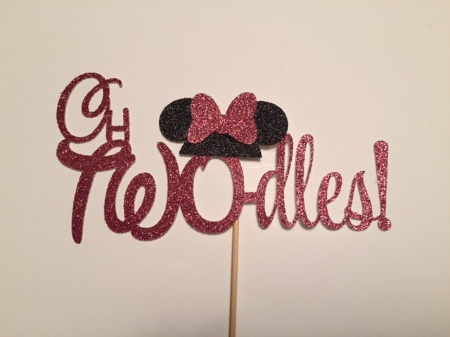 oh TWOdles cake topperMinnie Mouse cake topper Photo Shoot