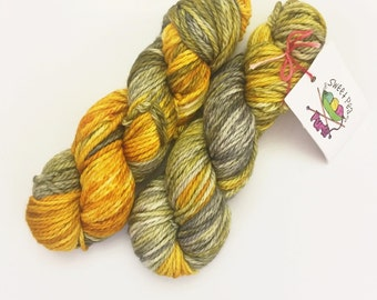 Partly Cloudy - Hand dyed merino bulky weight yarn