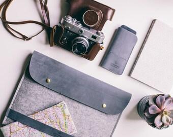 Late 2016 MacBook 15 case MacBook case leather Mac Pro 15 case Laptop leather case Pro retina 15 case MacBook leather sleeve Laptop case