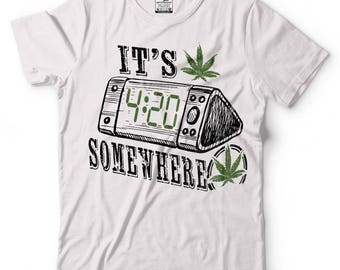 Weed T-Shirt Cannabis Marijuana Joint Pot Smoker Tee Shirt