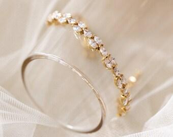 Jewelry for Bride Gold Bracelet Bridal Bracelet Wedding Gold Bracelet Bridal Jewelry Gold Wedding Jewelry Crystal Wedding Bracelet B249-G