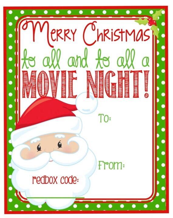Printable Christmas Redbox Gift Tag Merry by ...