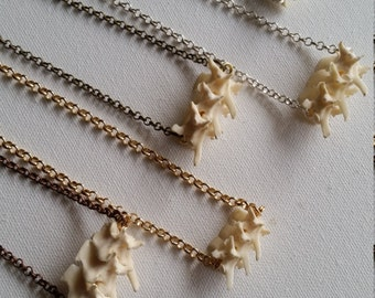 RESERVED Real Rattlesnake Bone Vertebrate Bar Necklaces