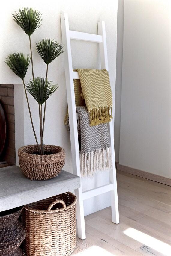 Blanket ladder towel ladder quilt ladder 6 39 white - Decorative ladder for bathroom ...