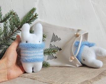 Gift for girlfriend, Childrens Gift, Animal doll, Miniature Toy, Stuffed animal, Miniature dolls, Kids Toy, Cute stuffed, Mascot, Bunny toy
