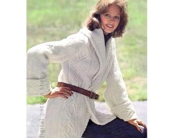 Knitting Pattern For Ladies Cardigan With Collar : Crochet Sweater Pattern Swirl Motif Top Crochet Pattern Womens