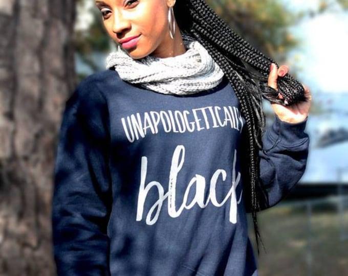 Unapologetically Black Women's Crewneck Sweatshirt - Navy