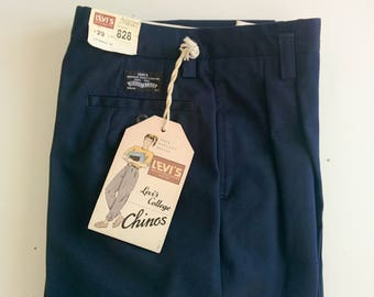 1980s LEVI'S college chinos size 29W 30L