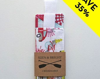 Fabric Bookmarks: Christmas Trees (Set of 2)