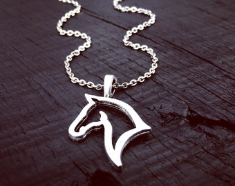 Horse Pendant Necklace | Horse Jewelry | Jewelry Gift For Horse Lover | Rodeo Necklace Jewelry | Equestrian Necklace | Equestrian Jewelry