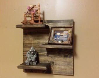 Rustic Towel Shelf Bathroom Shelf Horseshoe Shelf Hall
