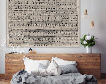 Music Wall Art, Custom Music Notes, Music Sheets Art, Wedding Song Music sheets, Custom Music Sheets, RockinCanvas