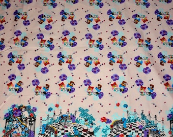 Japanese Fabric Sanrio Twin Little Sisters Collaboration with Kayo Horaguchi,  Sanrio - one yard
