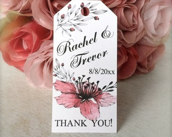 Wedding favor tags, custom thank you tags, favor tags, bridal shower tags, engagement tags, hang tags - 24 count(tg36)