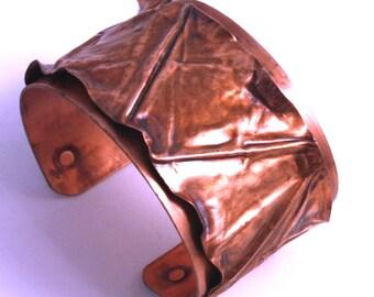Classic Copper Fold-Formed Cuff Bracelet