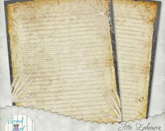 Journal Paper, Printable Stationery, Junk Journal, Vintage Ephemera, Digital Paper Craft Supplies, Scrapbooking - 'Attic Ephemera'