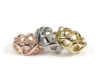 Infinity Charm Bead, Charm Bracelet Bead, Rose Gold Charm, Silver Charm, Gold Charm, Large Hole Bead, Charm Bead, Bracelet Charm