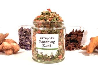 Mirepoix Seasoning Blend European French Spice Mix Soup Stock Flavoring Foodie Chef Cooking Gift SALT FREE